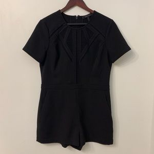 Black BCBG Romper with Pockets | Size 12